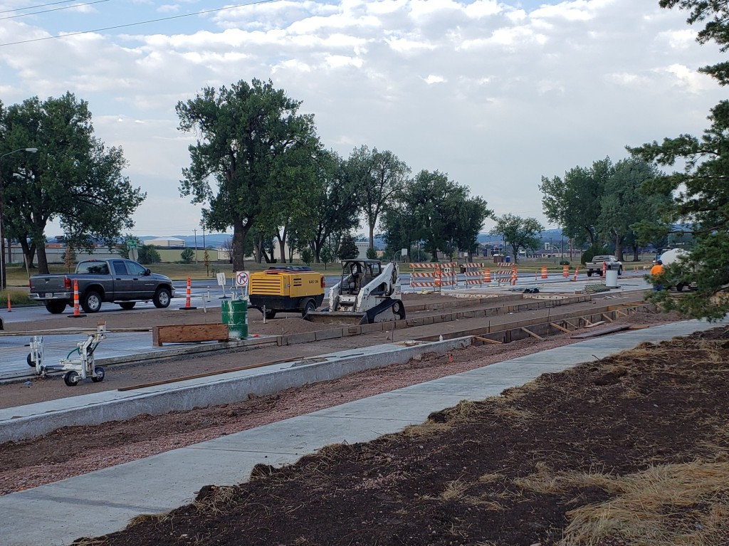 Omaha Street west end of Phase 1 project limits 2020-08-27