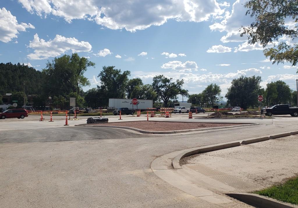Omaha Street east Founders Park entrance 2020-08-12