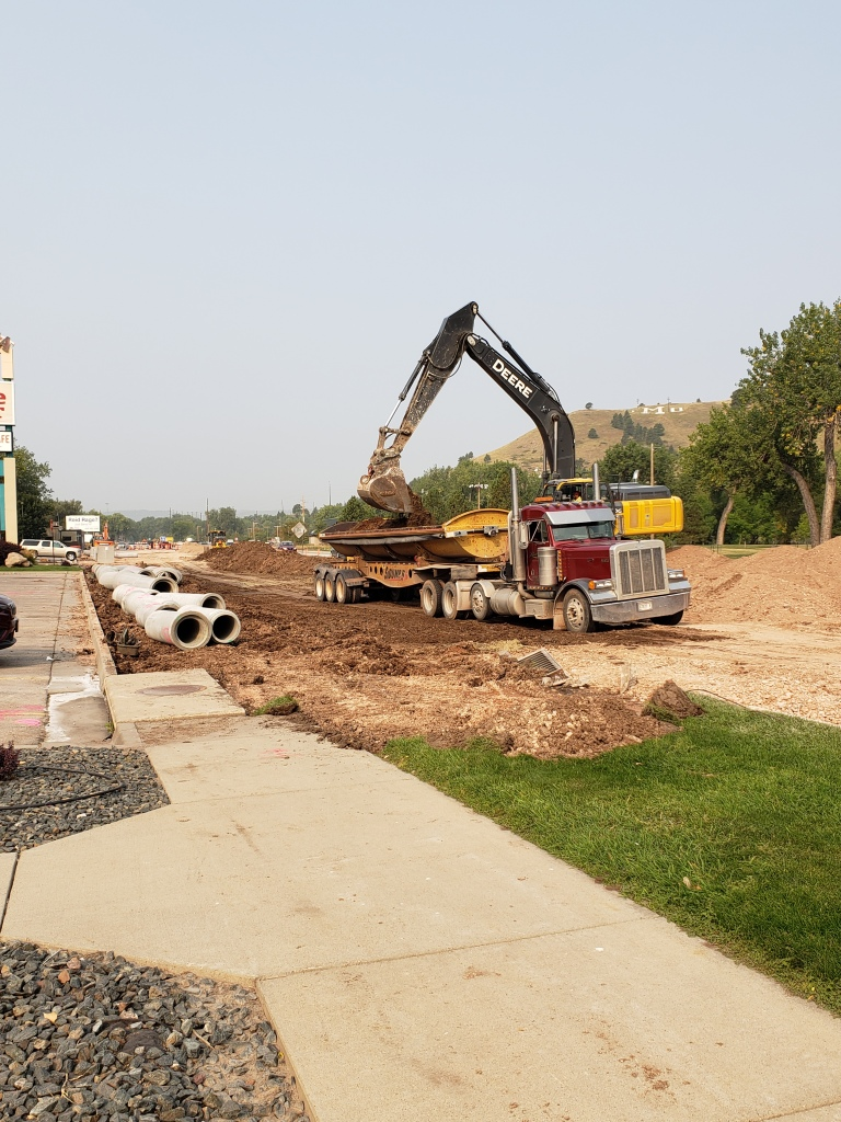 Omaha Street removal work in eastbound lanes from 12th Street to Oshkosh Street. 2020-09-17
