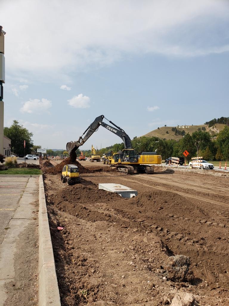Work on Omaha Street Plaza approach 2020-09-23