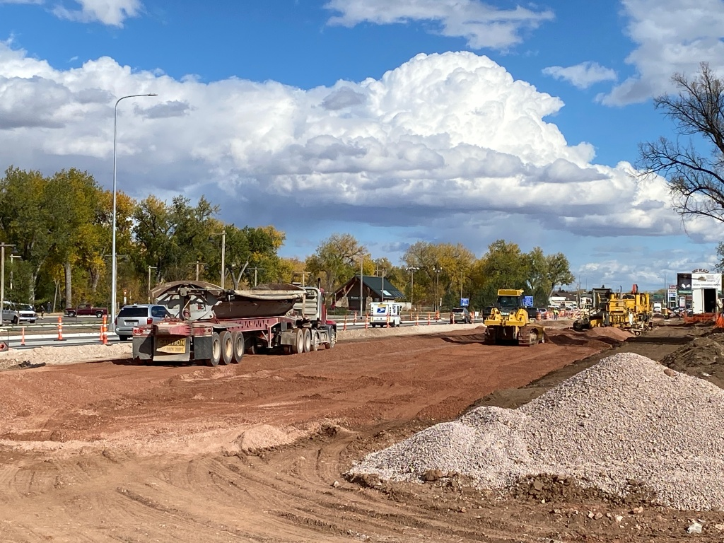 Gravel Placement on Omaha Street 2020-10-14