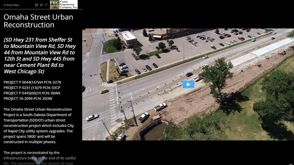 Omaha Street Reconstruction Story Map