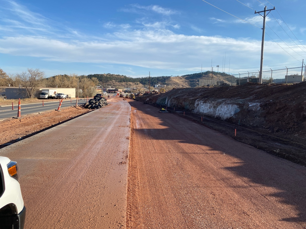 Preparations for Paving on Deadwood Avenue 2020-11-04
