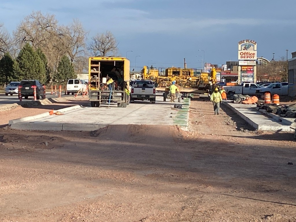 Omaha Street Mainline Concrete Pour in Eastbound Lanes 2020-11-18