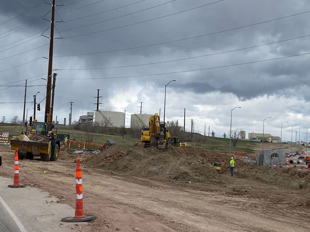 Roadway Excavation at Deadwood Avenue in Rapid City, South Dakota, Wednesday, May 5, 2021.