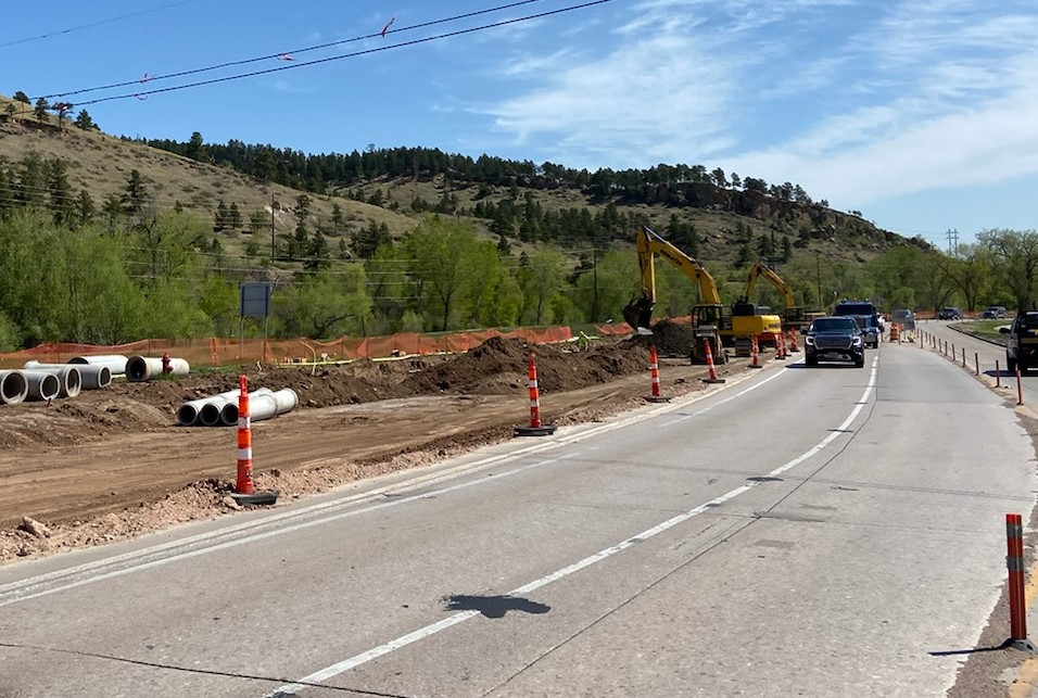 Grading and Storm Sewer Installation on Omaha Street in Rapid City, South Dakota, Wednesday, May 19, 2021.