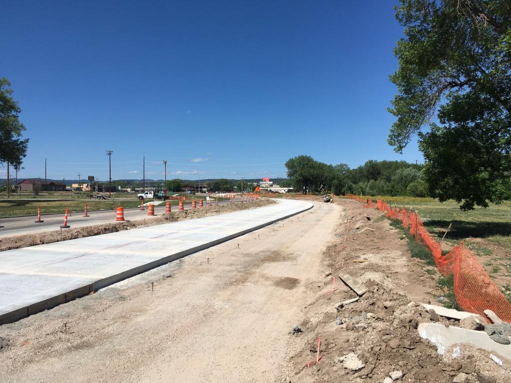 Concrete paving on North Omaha St. in Rapid City, South Dakota, Wednesday, June 30, 2021.