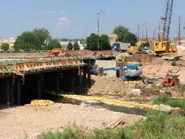 Rapid Creek Bridge Widening on Deadwood Avenue, Rapid City, South Dakota, Wednesday, July 21, 2021.