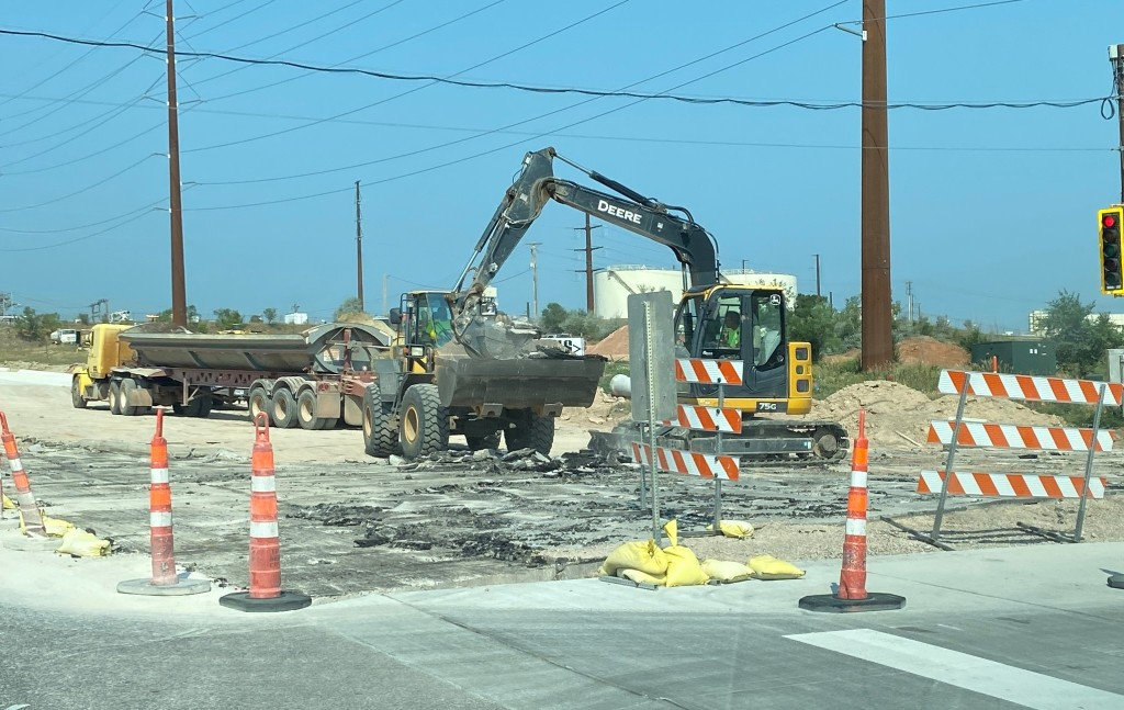 Pavement Removal in the Deadwood Avenue Intersection, Rapid City, South Dakota, Wednesday, July 28, 2021.
