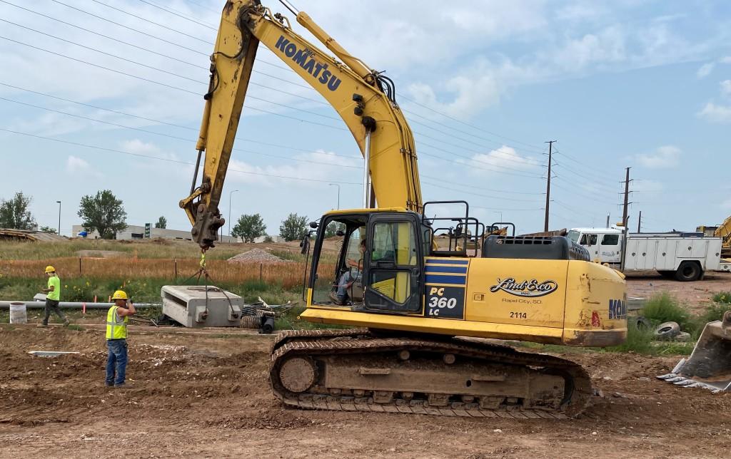 Storm Inlet Installation, Deadwood Avenue, Rapid City, South Dakota, Wednesday, August 4, 2021.
