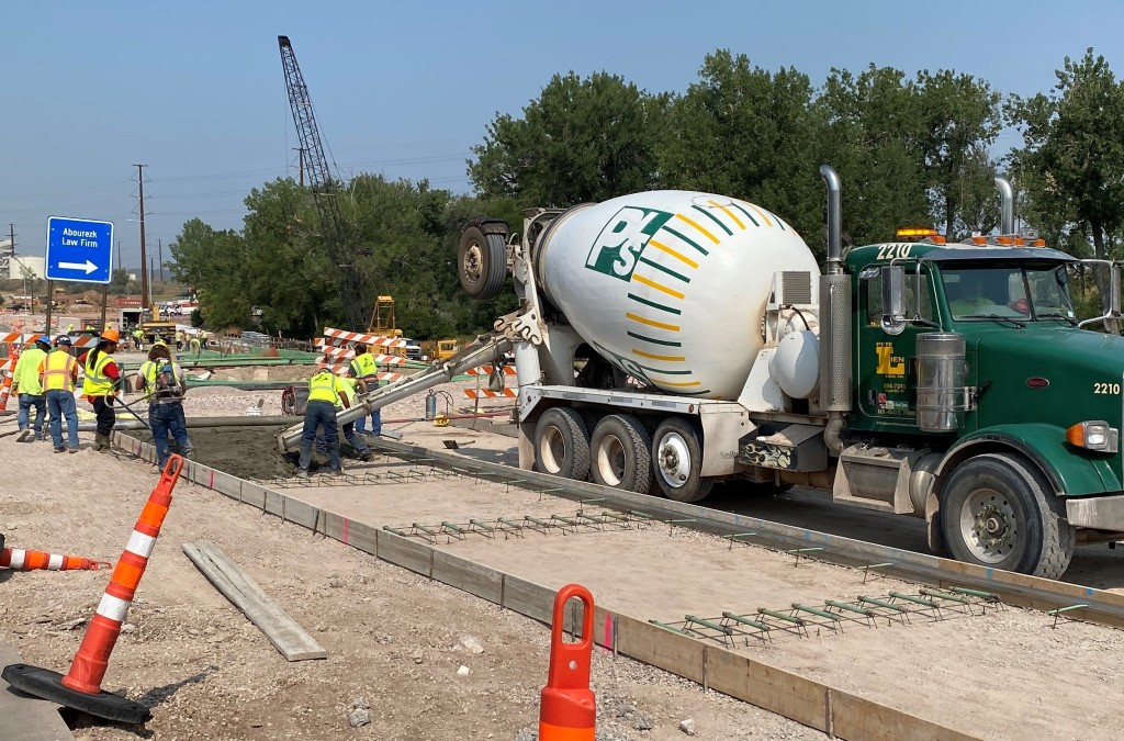 Concrete Pavement Placement, Omaha Street, Rapid City, South Dakota, Wednesday, August 18, 2021.