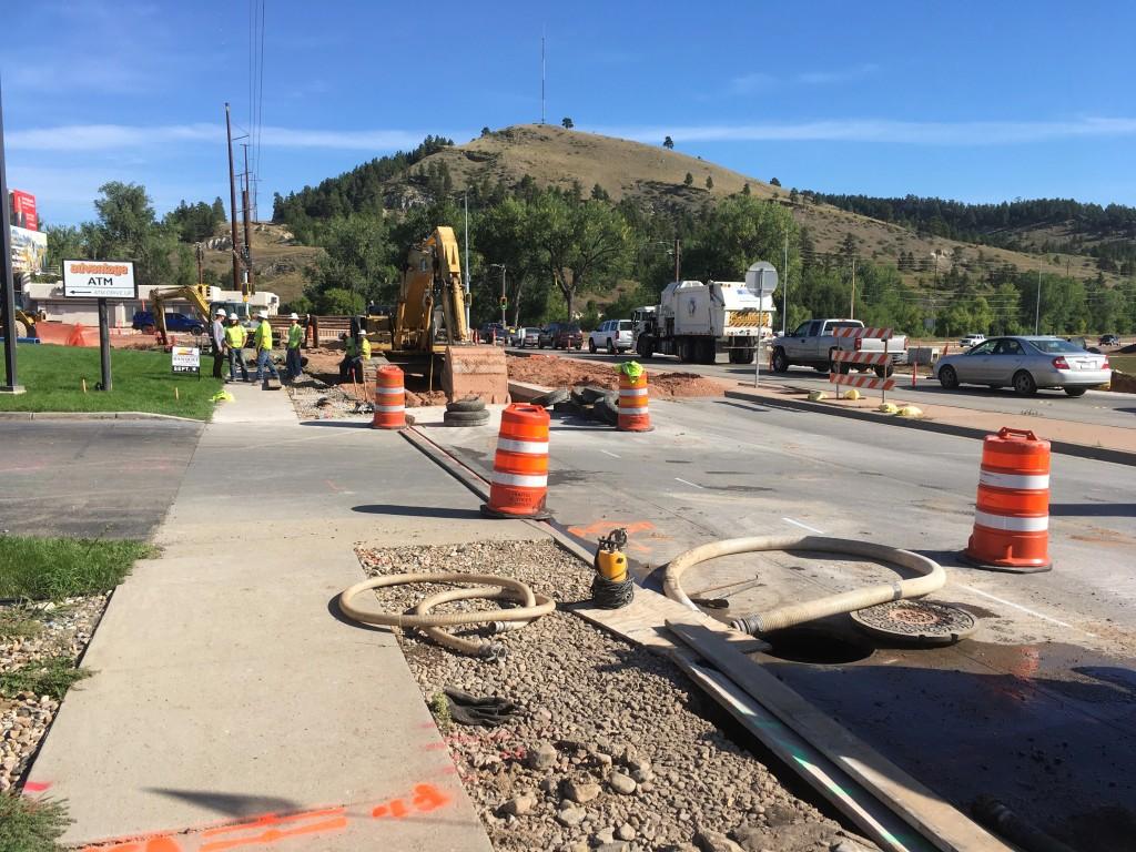 Utility Work on Mountain View Road, Rapid City, South Dakota, Wednesday, September 8, 2021.