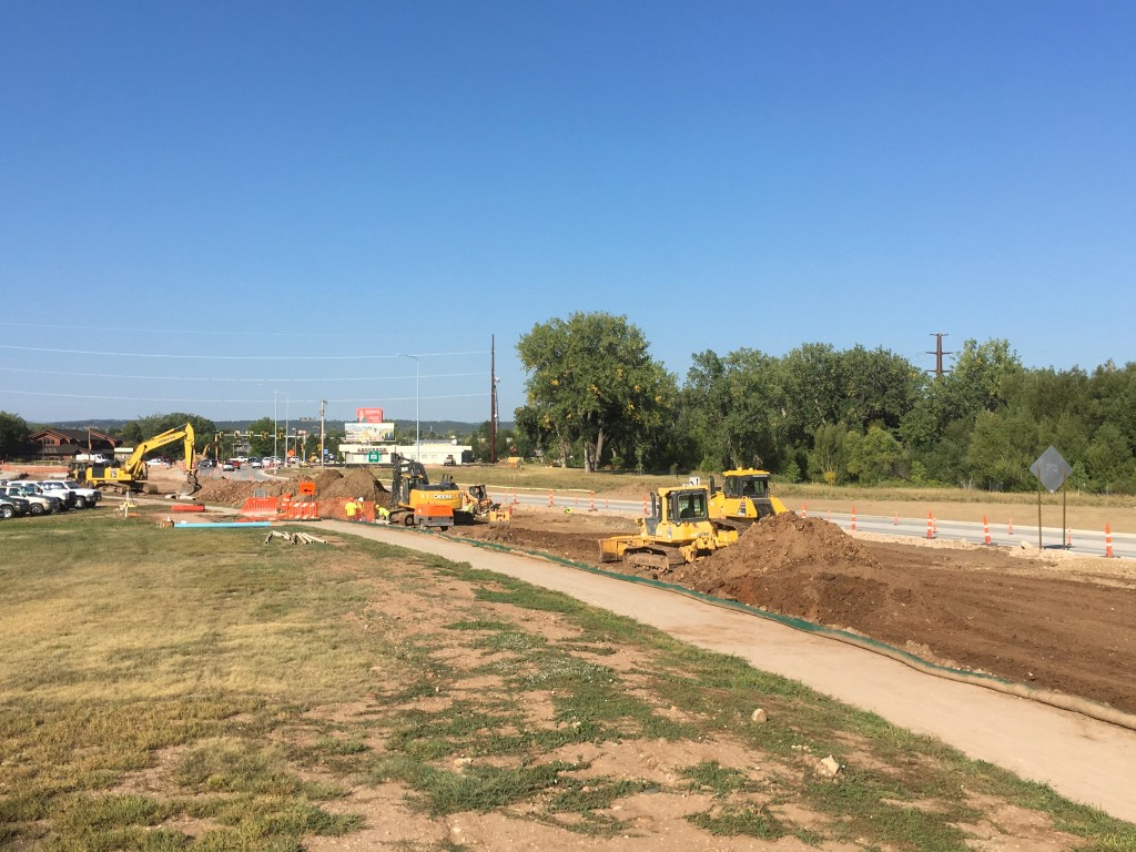 Storm Sewer Installation, undercutting, and grading on Omaha Street, Rapid City, South Dakota, Wednesday, September 15, 2021.